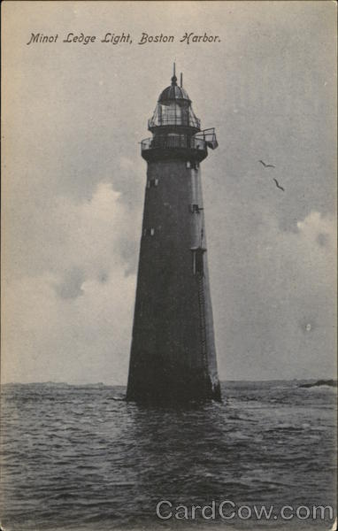 Minoi Ledge Light, Boston harbor Massachusetts