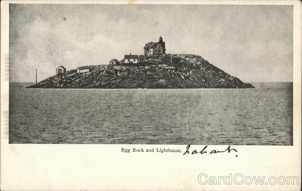 Egg Rock and Lighthouse Bar Harbor Maine