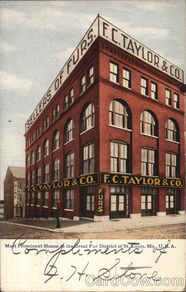 F.C. Taylor & Co., Sellers of Furs St. Louis Missouri