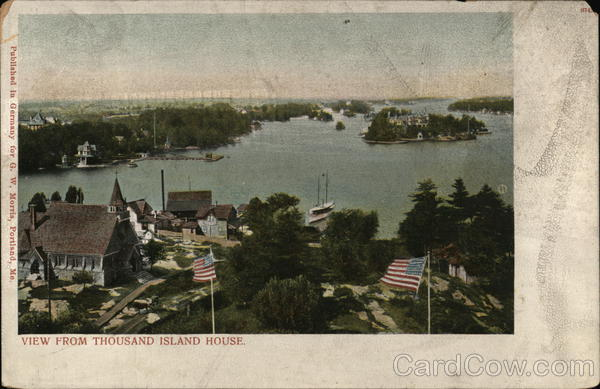 View from Thousand Island House Alexandria Bay New York