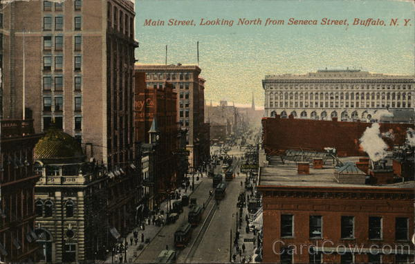 Main Street Looking North from Seneca Street Buffalo New York