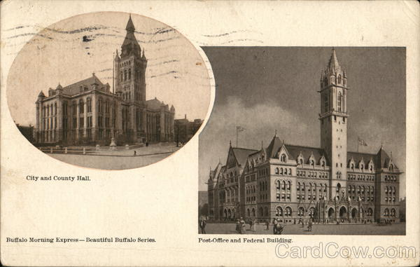City and County Hall; Post Office and Federal Building Buffalo New York
