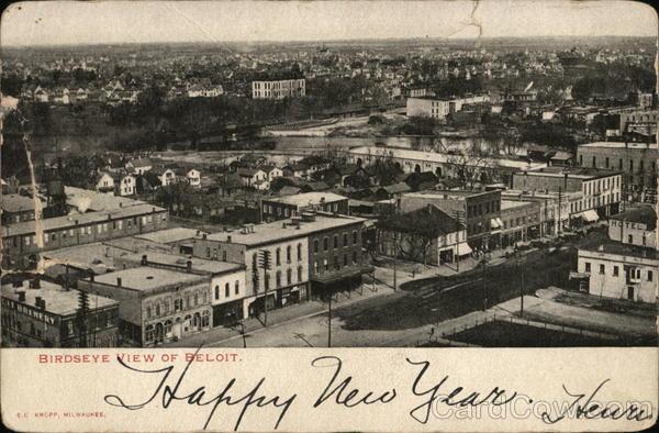 Birdseye View of Town Beloit Wisconsin