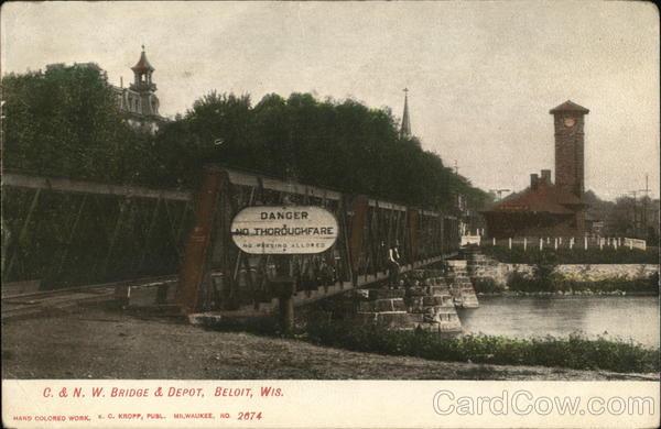 C. & N. W. Bridge & Depot Beloit Wisconsin