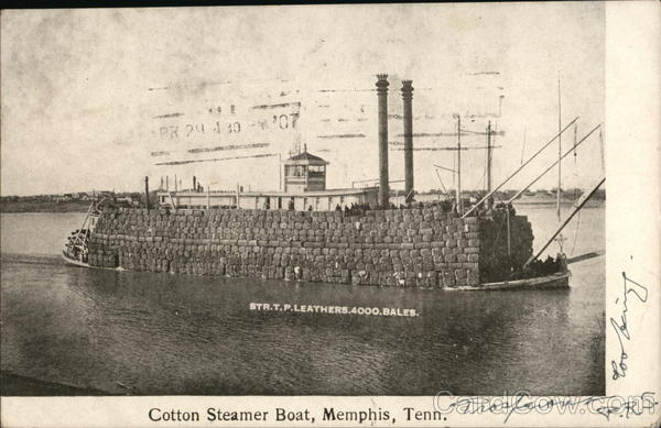 Cotton Steamer Boat Memphis Tennessee