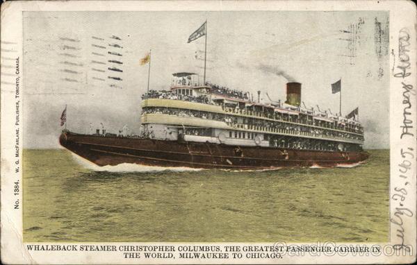 Whaleback Steamer Christopher Columbus Steamers