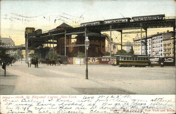 110th Street Elevated Curve New York