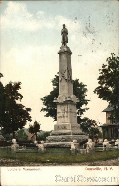 View of Soldiers Monument Dansville New York