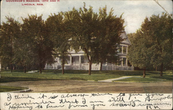 Governor's Mansion, 15th and H Lincoln Nebraska