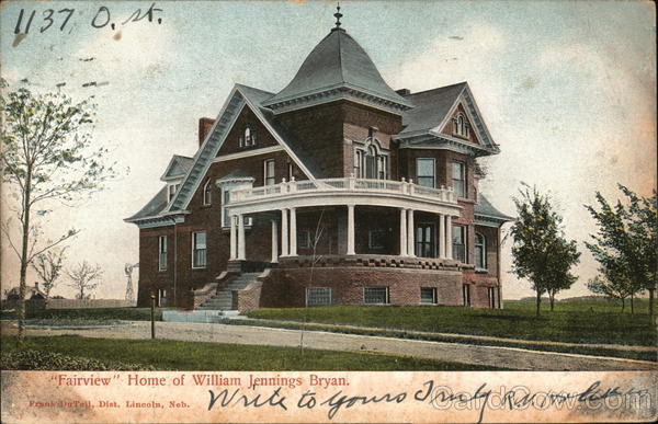Fairview Home of William Jennigs Bryan Lincoln Nebraska