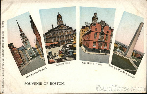 Old North Church - Faneuil Hall - Old State House - Bunker Hill Monument Boston Massachusetts