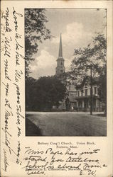 Bethany Cong'l Church, Union Block Postcard