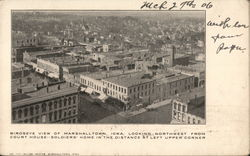 Bird's Eye View of Town Looking Northwest from Court House