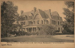 """Ethelwyn"", Residence of Mrs. Robert Winthrop"