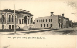 Free Public Library, Main Street Postcard