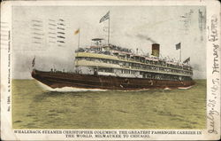"Whaleback Steamer ""Christopher Columbus"""