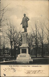 Colfax Monument in University Park Postcard