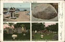 Site of the Watch Tower and Old Fort, Burial Hill - Plymouth Rock
