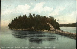 The End of Orrs Island, From Great Island, Maine