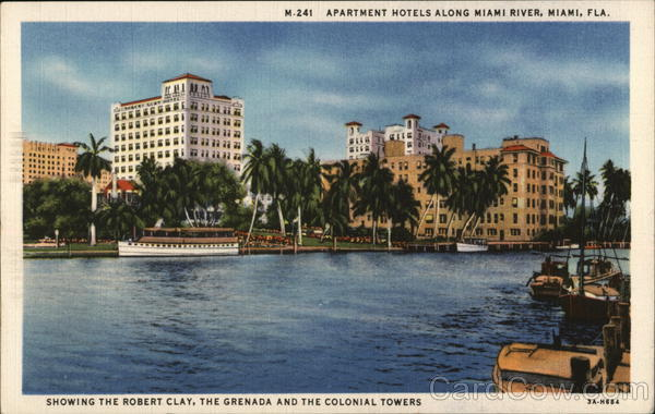 Apartment Hotels along Miami River Florida