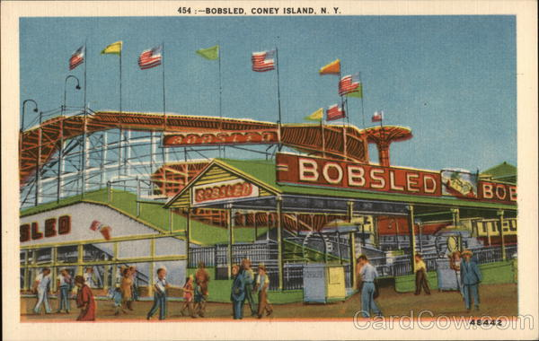View of Bobsled Coney Island New York