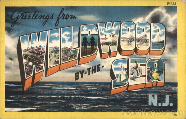 Greetings from Wildwood-by-the-Sea New Jersey Large Letter