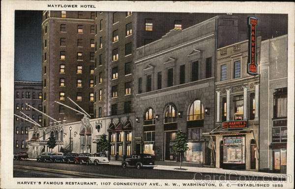Mayflower Hotel Harvey's Famous Restaurant Washington District of Columbia