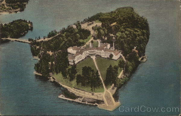 Aerial View of The Sagamore, Bolton Landing Lake George New York