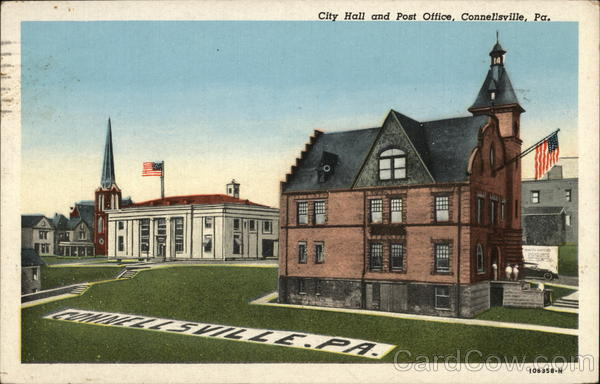 City Hall and Post Office Connellsville Pennsylvania