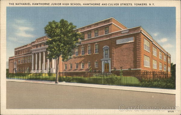 The Nathaniel Hawthorne Junior High School, Hawthorne and Culver Streets Yonkers New York