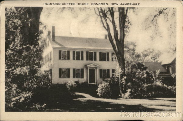 Rumford Coffee House, 207 North Main Street Concord New Hampshire