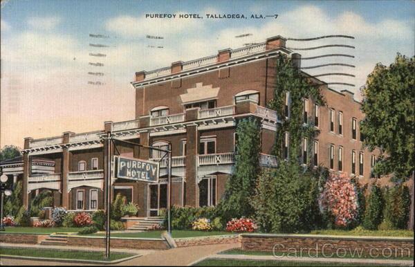 Purefoy Hotel Talladega Al Postcard