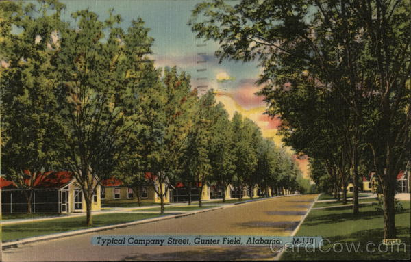 Typical Company Street, Gunter Field Montgomery Alabama