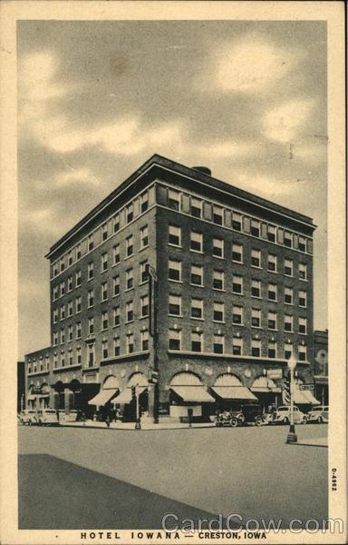 Hotel Iowana Creston Ia Postcard Supertel