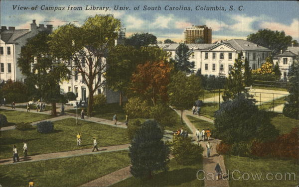 View of Campus from Library, Univ. of South Carolina Columbia