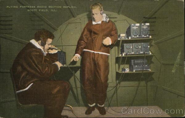 Flying Fortress Radio Section Replica Scott Field Illinois