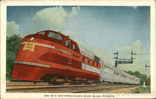 One of 8 New Streamlined Rock Island Rockets Trains, Railroad