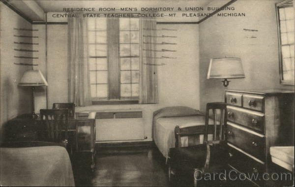 Residence Room, Men's Dormitory & Union Building Mount Pleasant Michigan