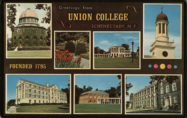 Greetings from Union College Schenectady New York