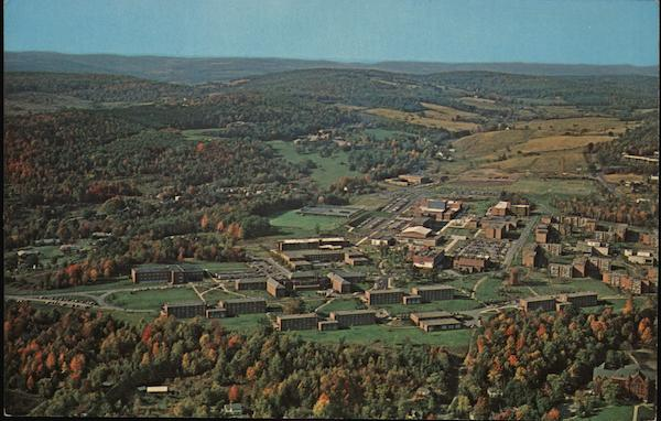 Aerial View of State University College Oneonta New York