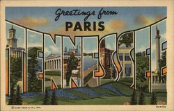 Greetings From Paris, Tennessee Postcard