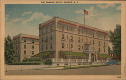The Pontiac Hotel Postcard