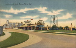Amusement Area Postcard
