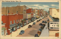Kane Business Section Postcard