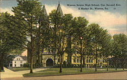 Senior High School, Cor. Second Ave. & Market St. Postcard
