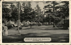 Section of Officers Camp Headquarters