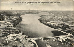 Bird's Eye View of Conowingo Dam and Susquehanna River