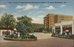 Scene at 5 Points showing Monument of Brother J. A. Bryan