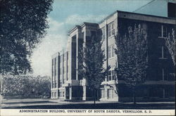 University of South Dakota - Administration Building Postcard