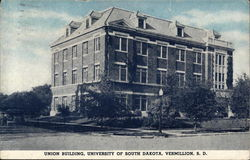 Union Building, University of South Dakota Postcard